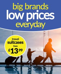 Suitcases from £13.99
