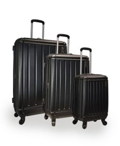 5Cities Black Hard Shell Suitcases Choice Discount