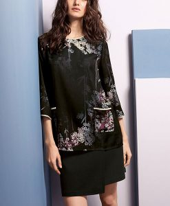 Next Luxe Black Floral Top Choice Discount