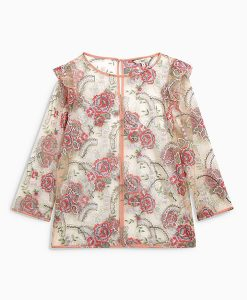 Next Blush Embroidered Mesh Top Choice Discount