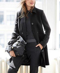 Next Black Textured Coat Choice Discount