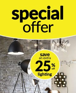 25% off Lighting at Choice Discount