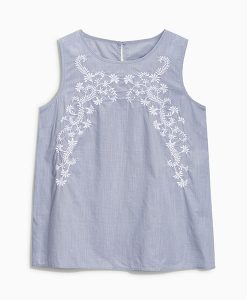 Next Embroidered Chambray Cami Choice Discount