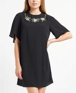 FASHION UNION Black Embellished Dress Choice Discount