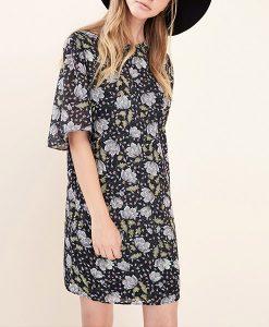 FASHION UNION Black Floral Shift Dress Choice Discount