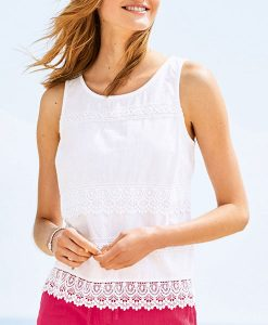 Next Lace Plain Shell White Top Choice Discount