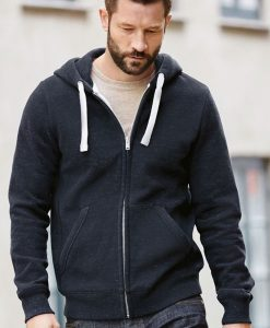 Navy Sueded Hoody