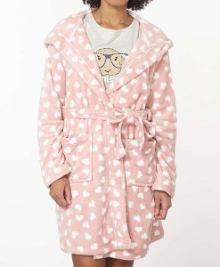 Pink Hearts Dressing Gown