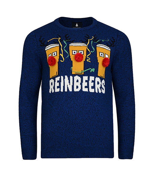 Threadbare Reinbeers Christmas Jumper