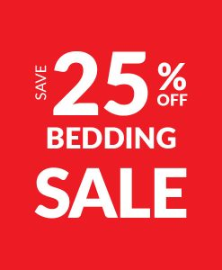 Save 25% off Bedding - Sale