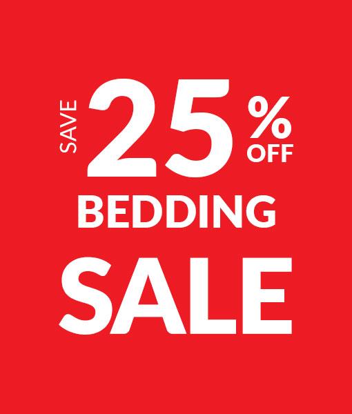 Save 25% off Bedding - Sale
