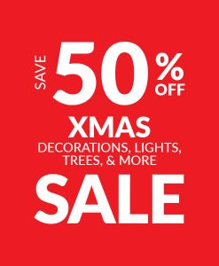 Save 50% off Christmas Decorations - Sale