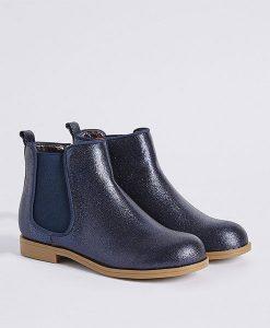 Navy Sparkle Boots