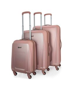 Rose Gold Lightweight Suitcases