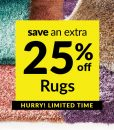 Save an Extra 25% off Rugs