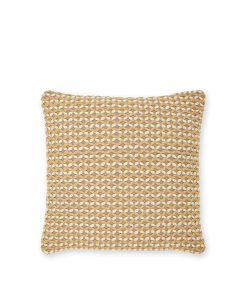 Ochre Wool Twist Cushion