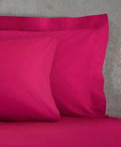 Cotton Rich Fuchsia Pillow Cases