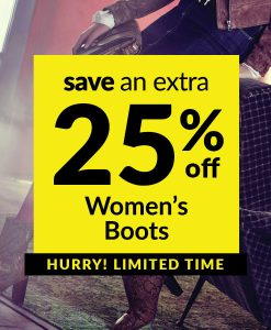 Save an Extra 25% off Women's Boots