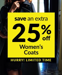 Save an Extra 25% off Women's Coats