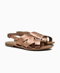 Metallic Rose Gold Sandals
