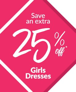 Save an Extra 25% off Girls Dresses
