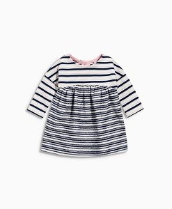 Navy Stripe Jersey Dress