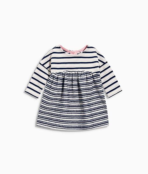 Navy Stripe Jersey Dress