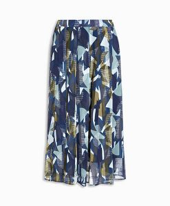 Geo Pleated Skirt