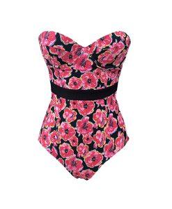 Floral Black Swimsuit