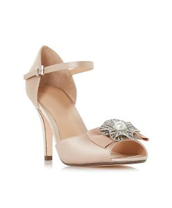 Nude Peep Toe Court Shoes