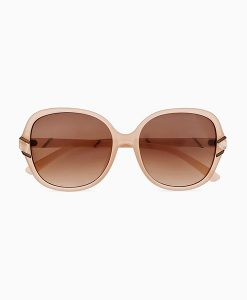Marble Square Nude Sunglasses