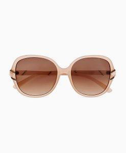 Marble Square Nude Sunglasses