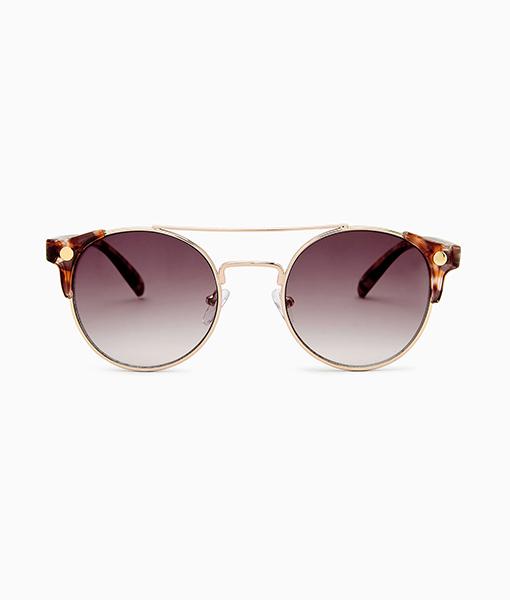 Preppy Corner Detail Sunglasses