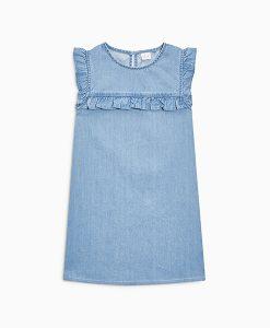 Denim Ruffle Dress