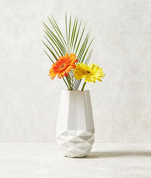 Geometric Ceramic Vase