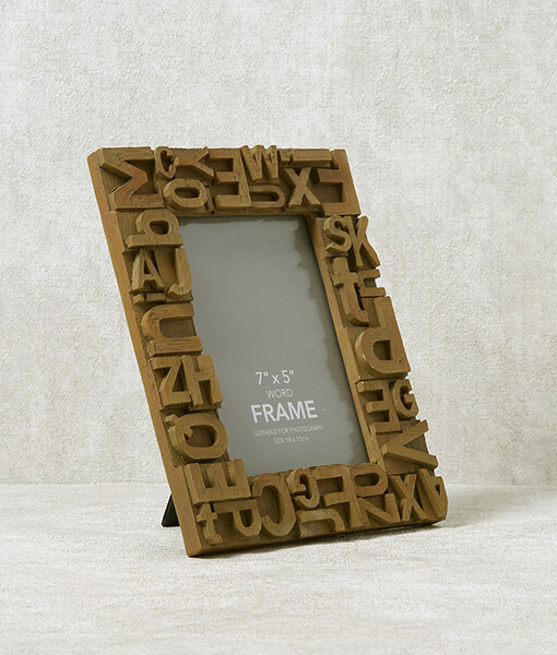 Word Resin Photo Frame