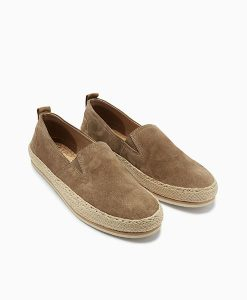 Stone Suede Jute Shoes