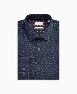 Navy Paisley Shirt
