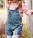 Rainbow Dungaree Set