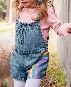 Rainbow Dungaree Set