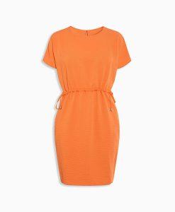 Orange Drawstring Dress