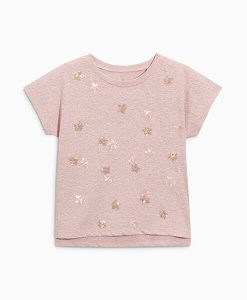 Pink Sequin Star Top