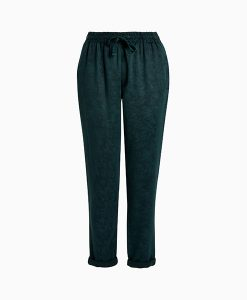 Green patterned jogger trousers