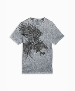 Grey Acid Wash Top