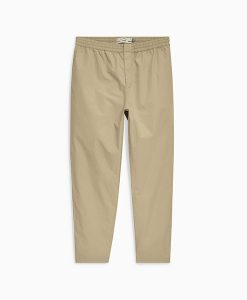 Tan Elasticated Chinos