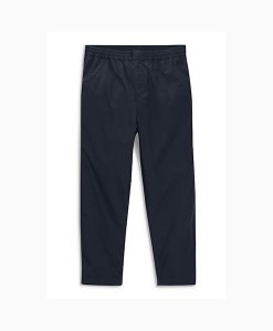 Navy Elasticated Chinos