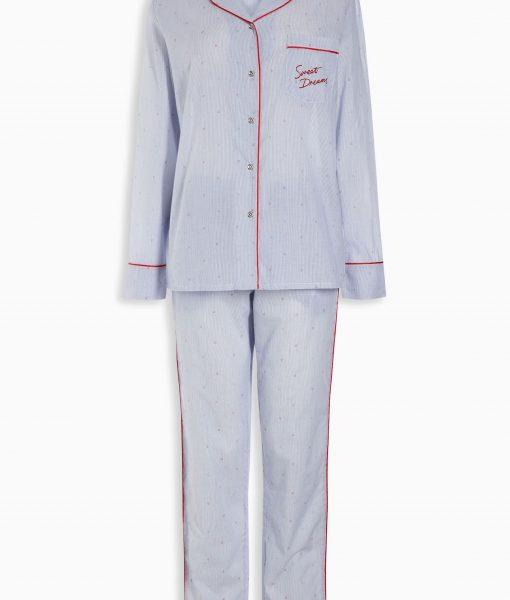 Blue long-sleeve pyjamas