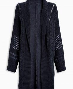 Navy pleated cardigan