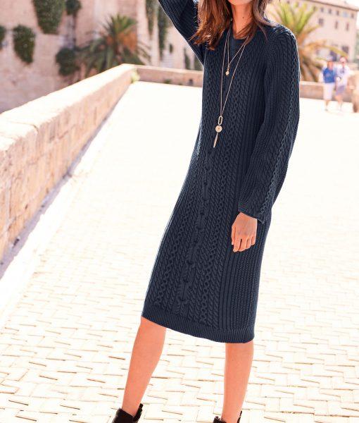 Navy Knit Dress