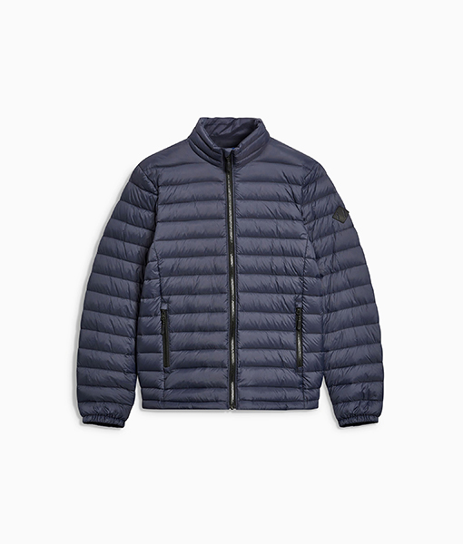 Navy Funnel Puffer Jacket